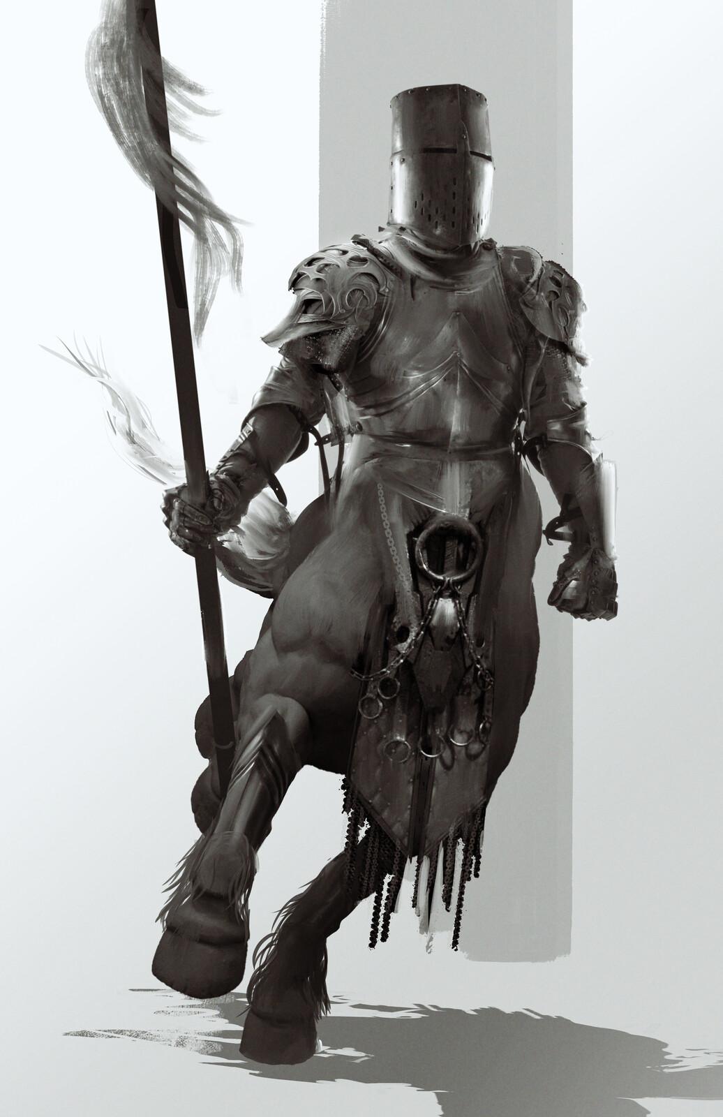 Medieval centaur quick sketch