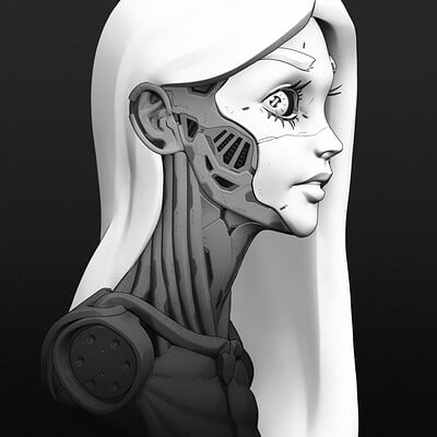 Cyborg Girl 3D
