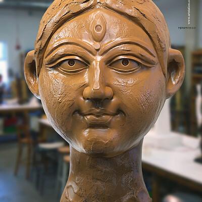 Surajit sen mrinmoyee01 digital sculpture surajitsen march2020s
