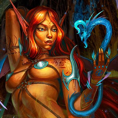 Andrey kamenov elf n dragons spell 09