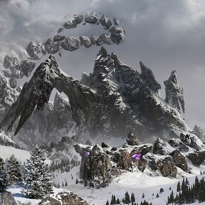 Eddie smith edsmithart tiamat snow mountain