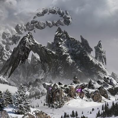 Eddie smith edsmithart tiamat snow mountain