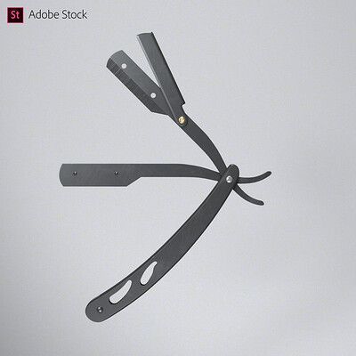 Adobe Stock | Metal Straight Razor