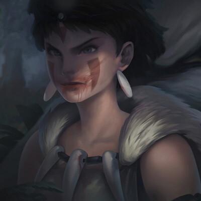 Imguss wolf girl mononoke