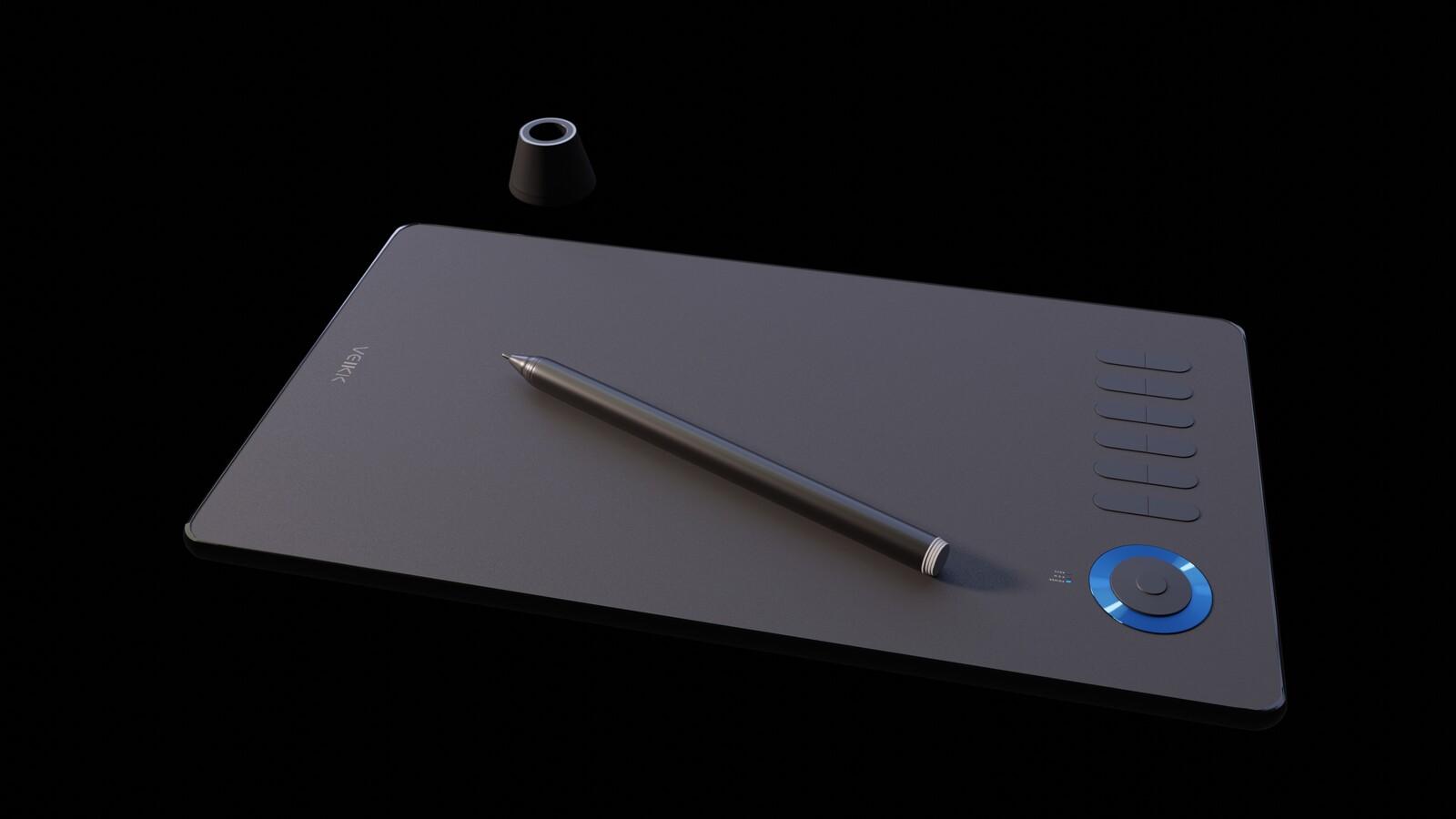 My new Veikk drawing tablet.  Love it!