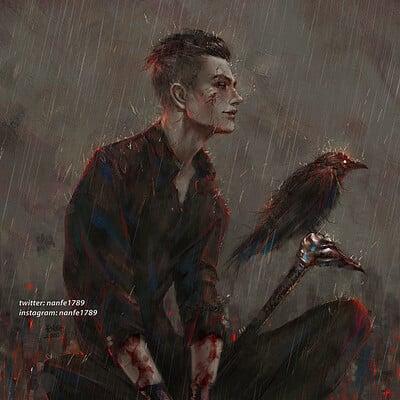 Nan fe feed yhe crow kazk