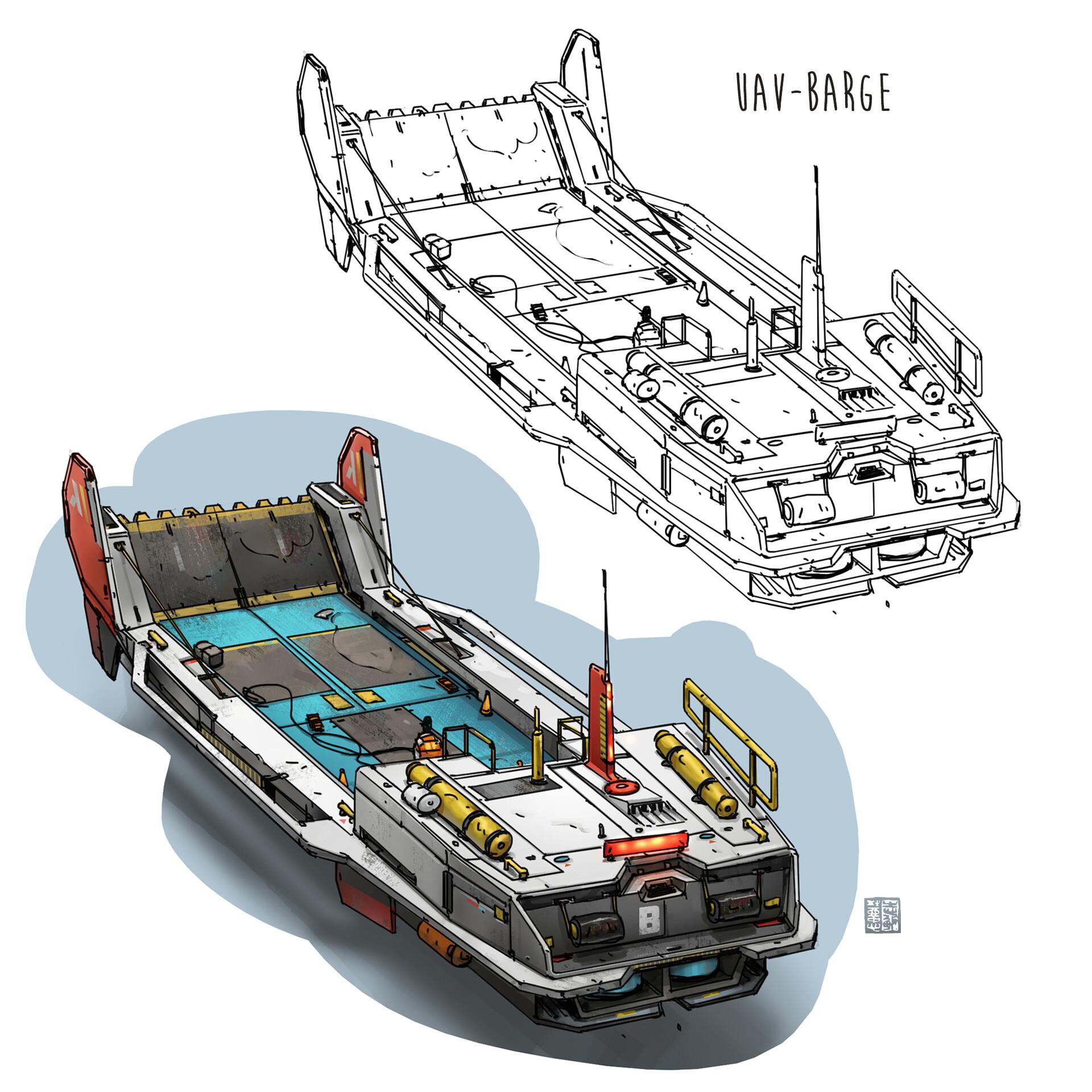 Autonomous hoverbarge