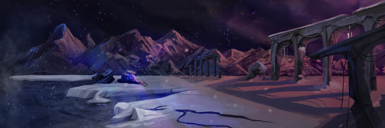 Environment Concept - Frozen Wasteland