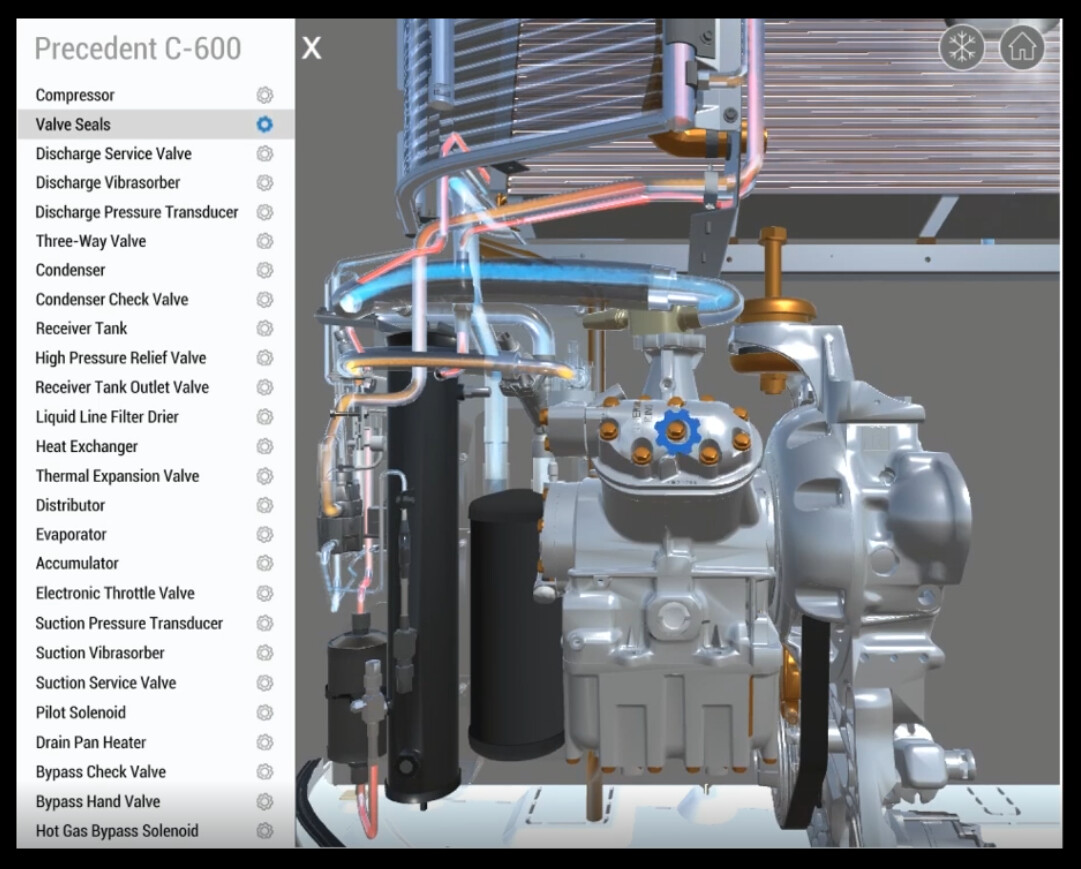 Thermo King Precedent Web-Based Training Application