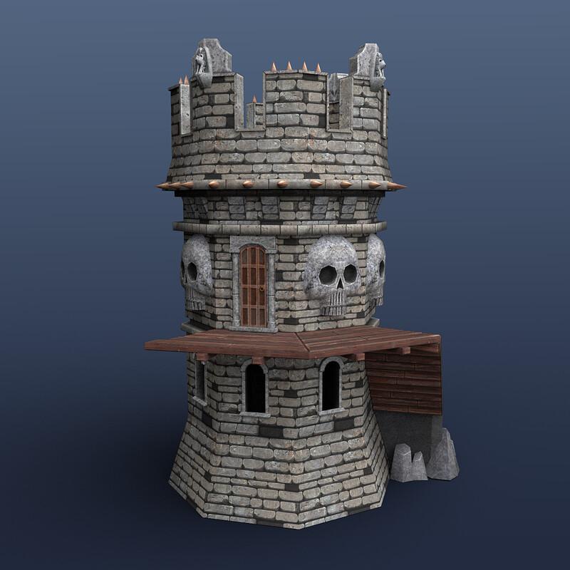 Skull Tower Model
