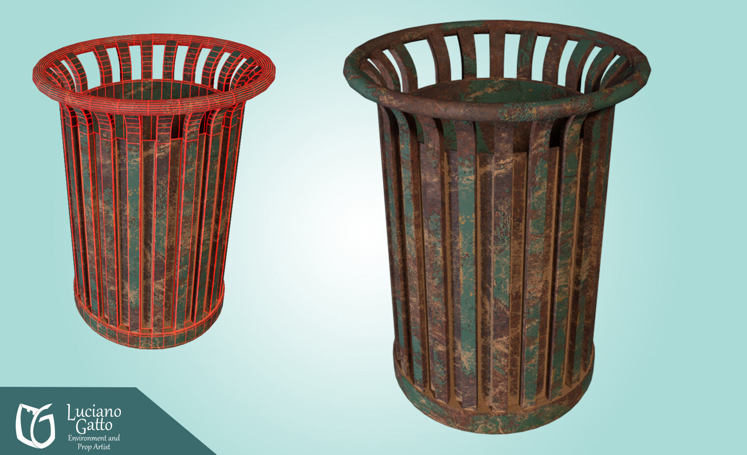 Wireframe of the Trash Can