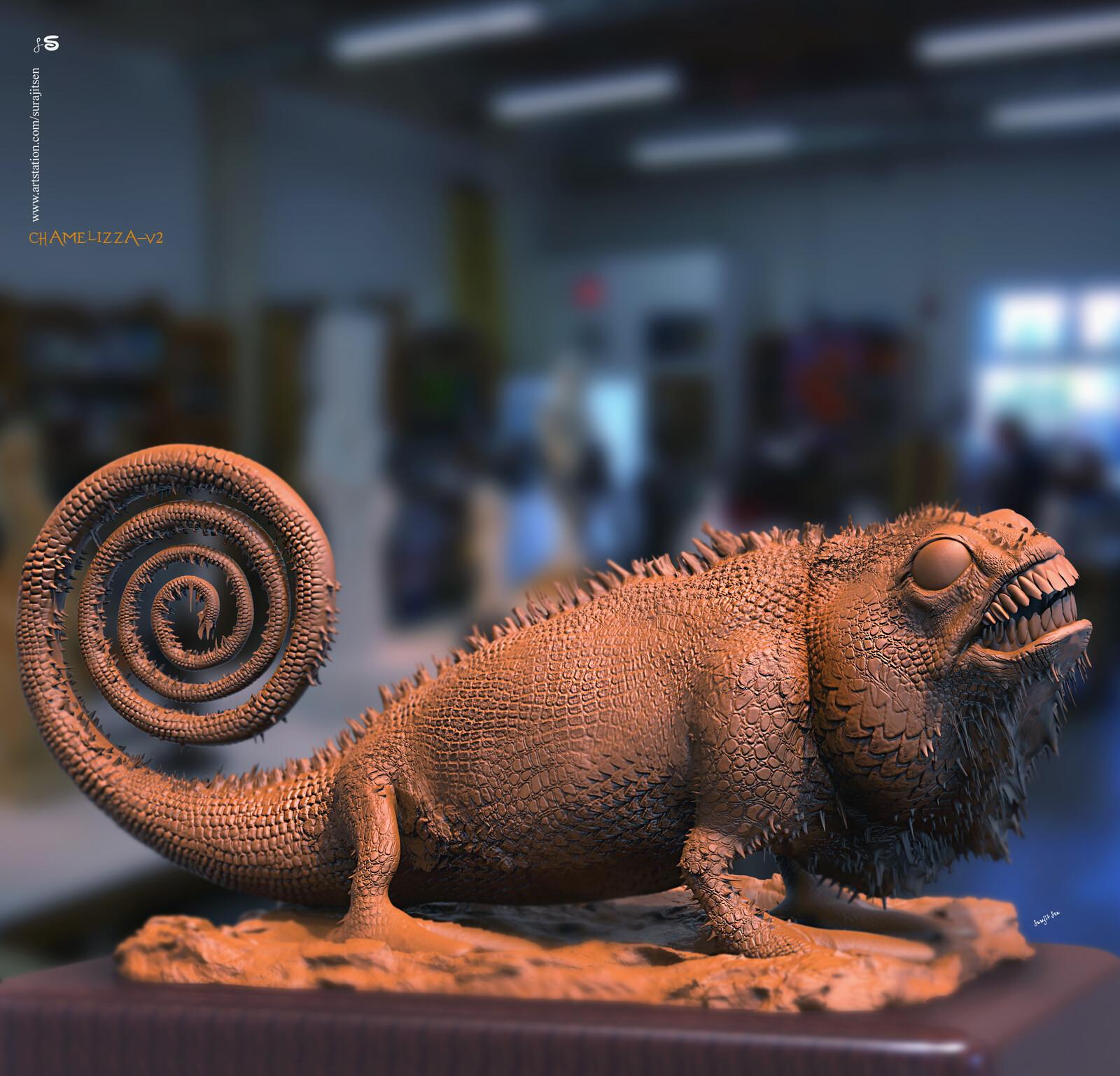 Chamelizza-v2 Digital Sculpture. Study.