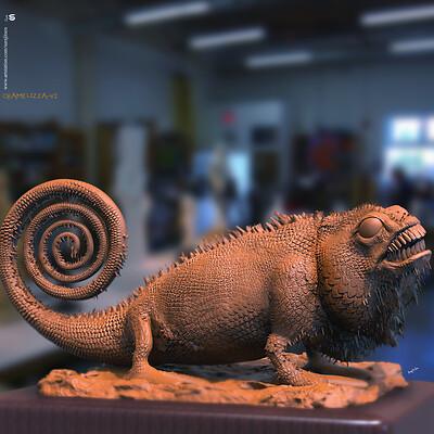 Surajit sen chamelizza v2 digital sculpture surajitsen march2020