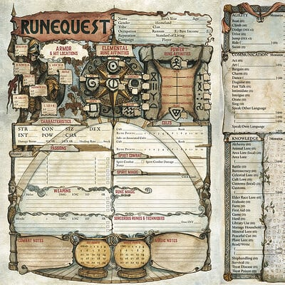 Francesca baerald runequest charactersheet