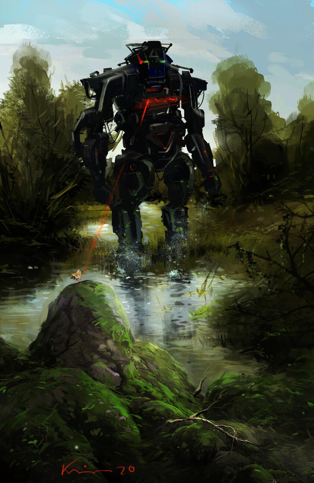 robot on nature ...