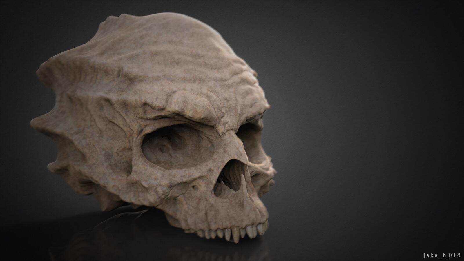 Demon skull - sculpt.