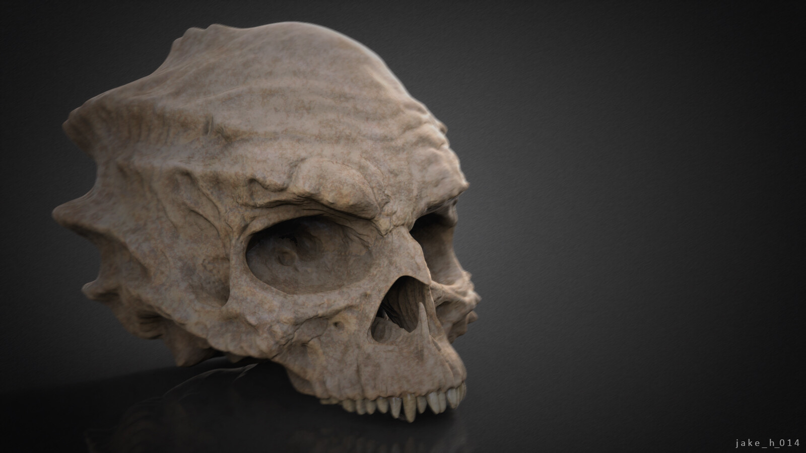 Demon skull - sculpt.