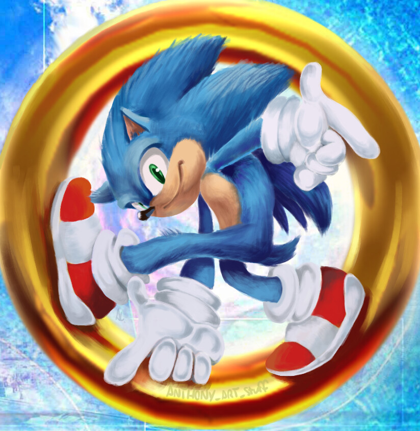 Artstation Sonic The Hedgehog Movie Adventure Anthony Lansford