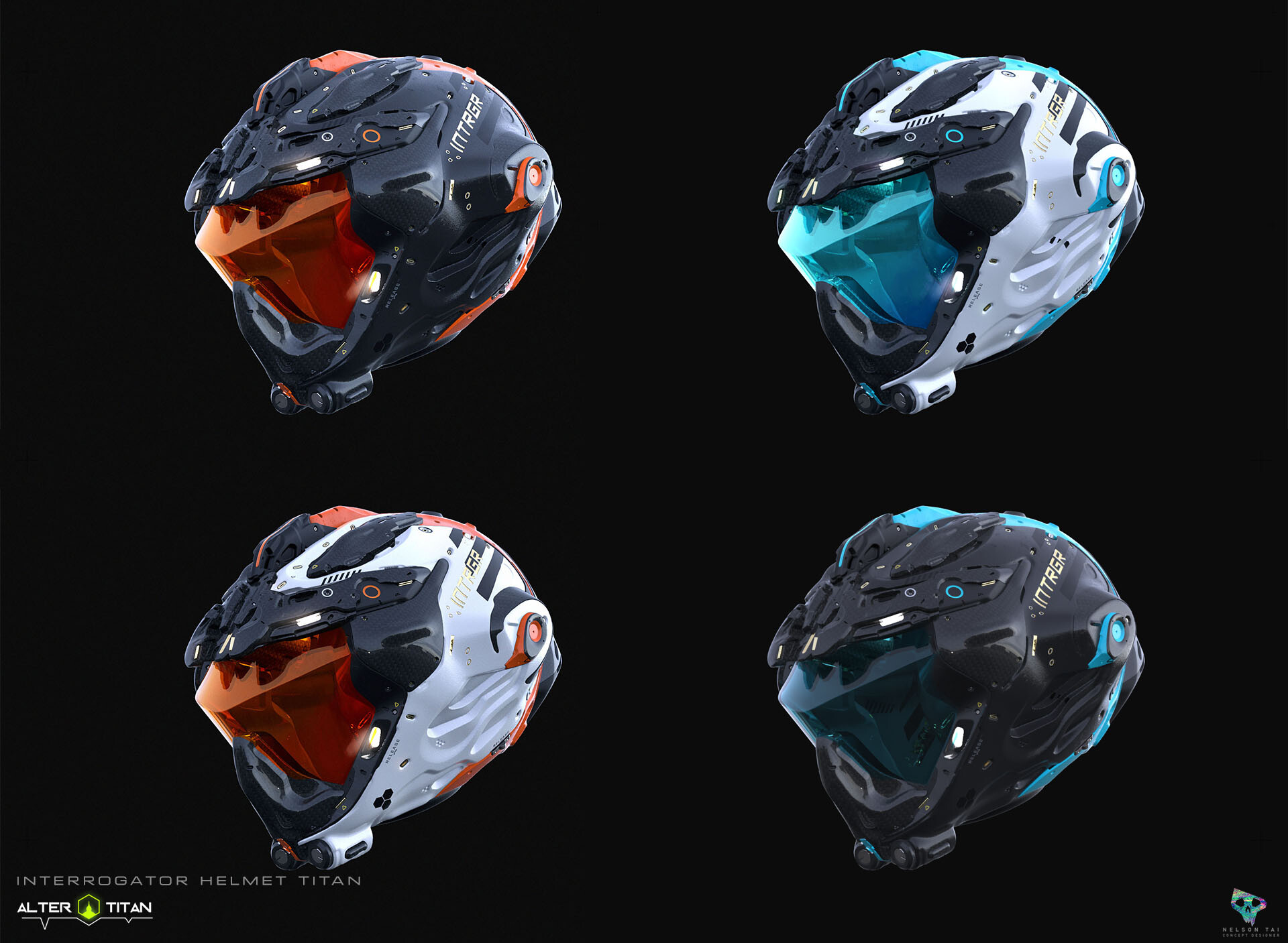 Color variations of the helmet