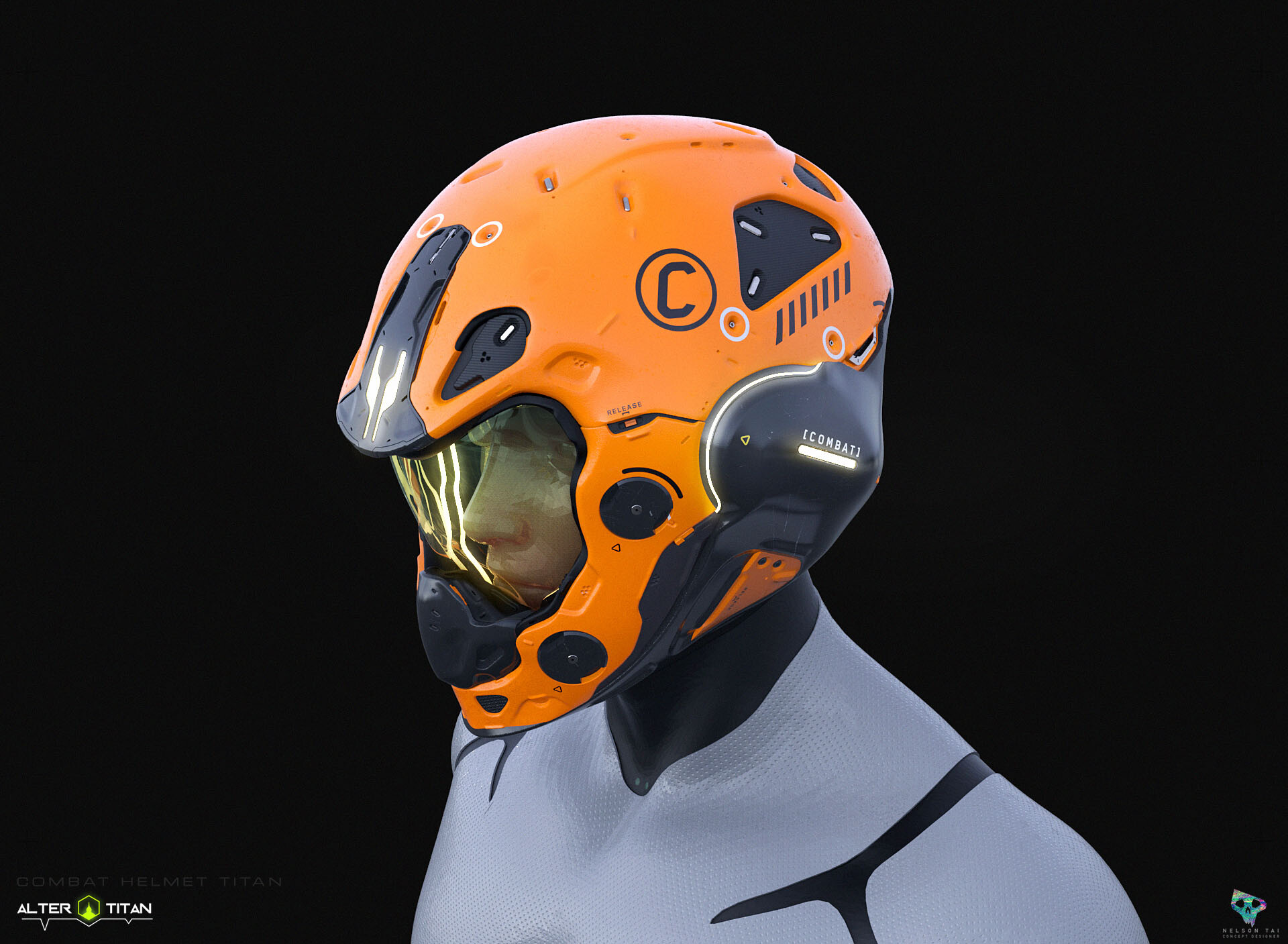 Combat Helmet - standard issue for Titans