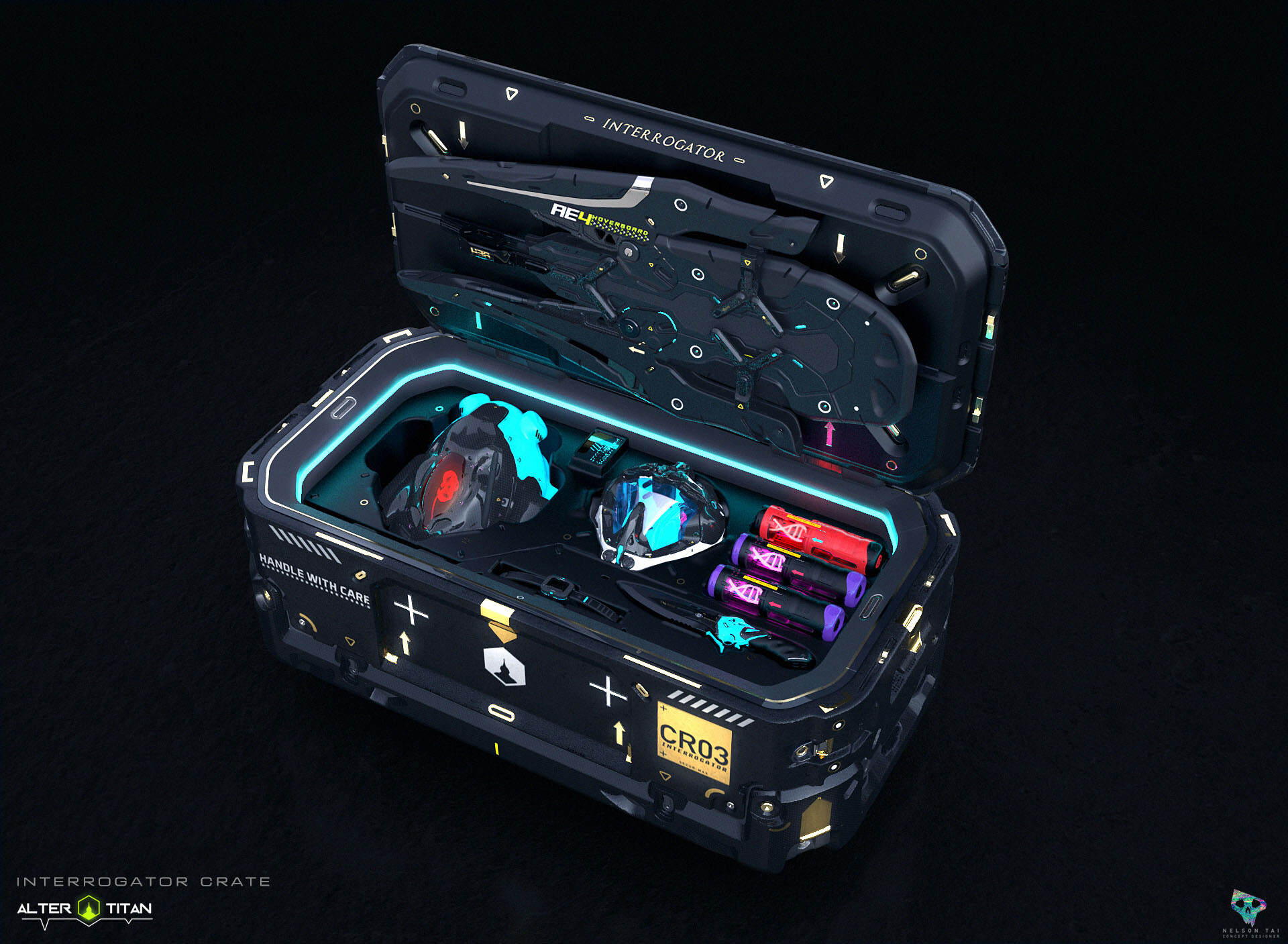 The ultimate Interrogator's crate! Comes with all the goodies :)