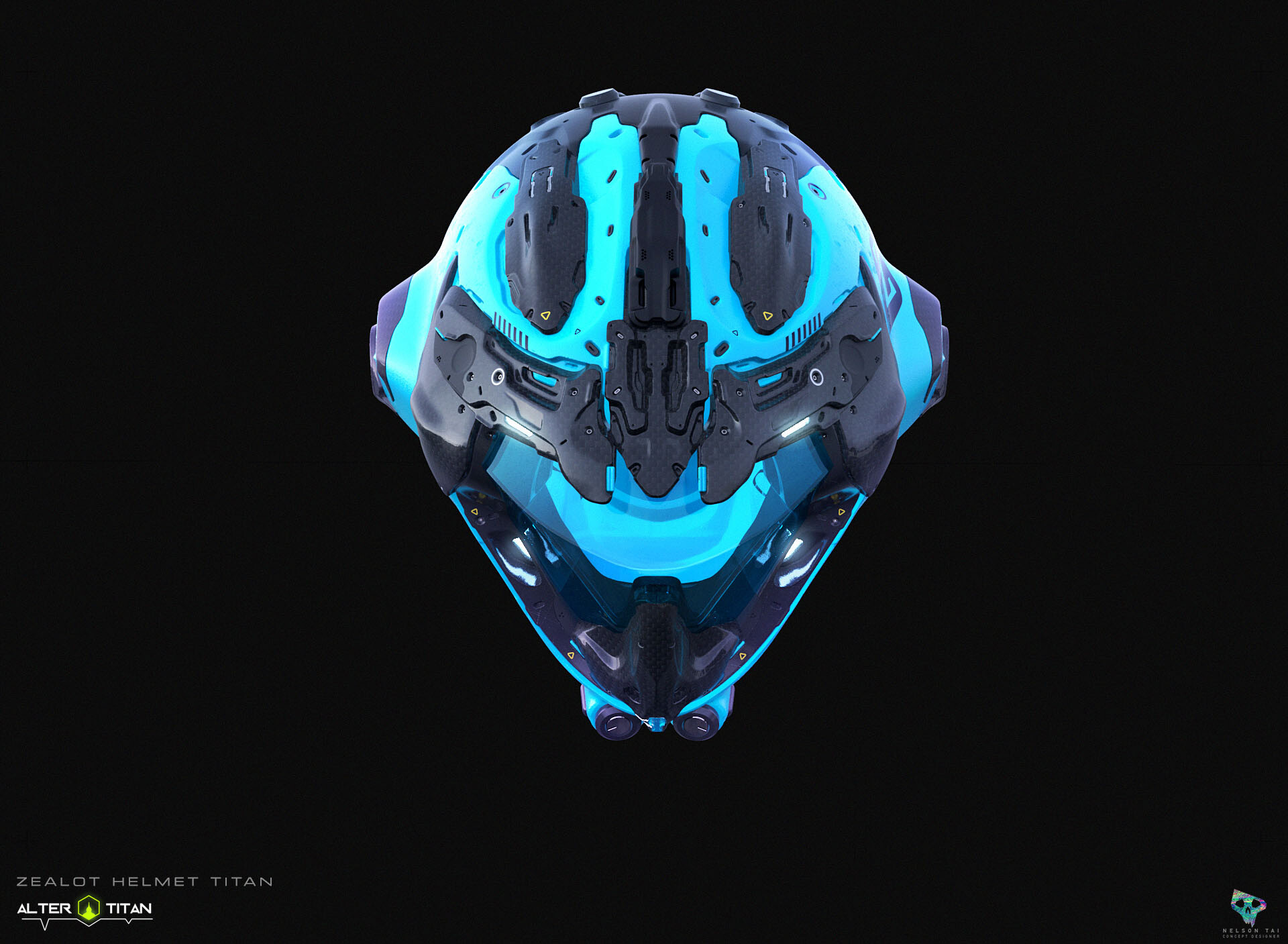 The sexy front view of the Zealolt Helmet