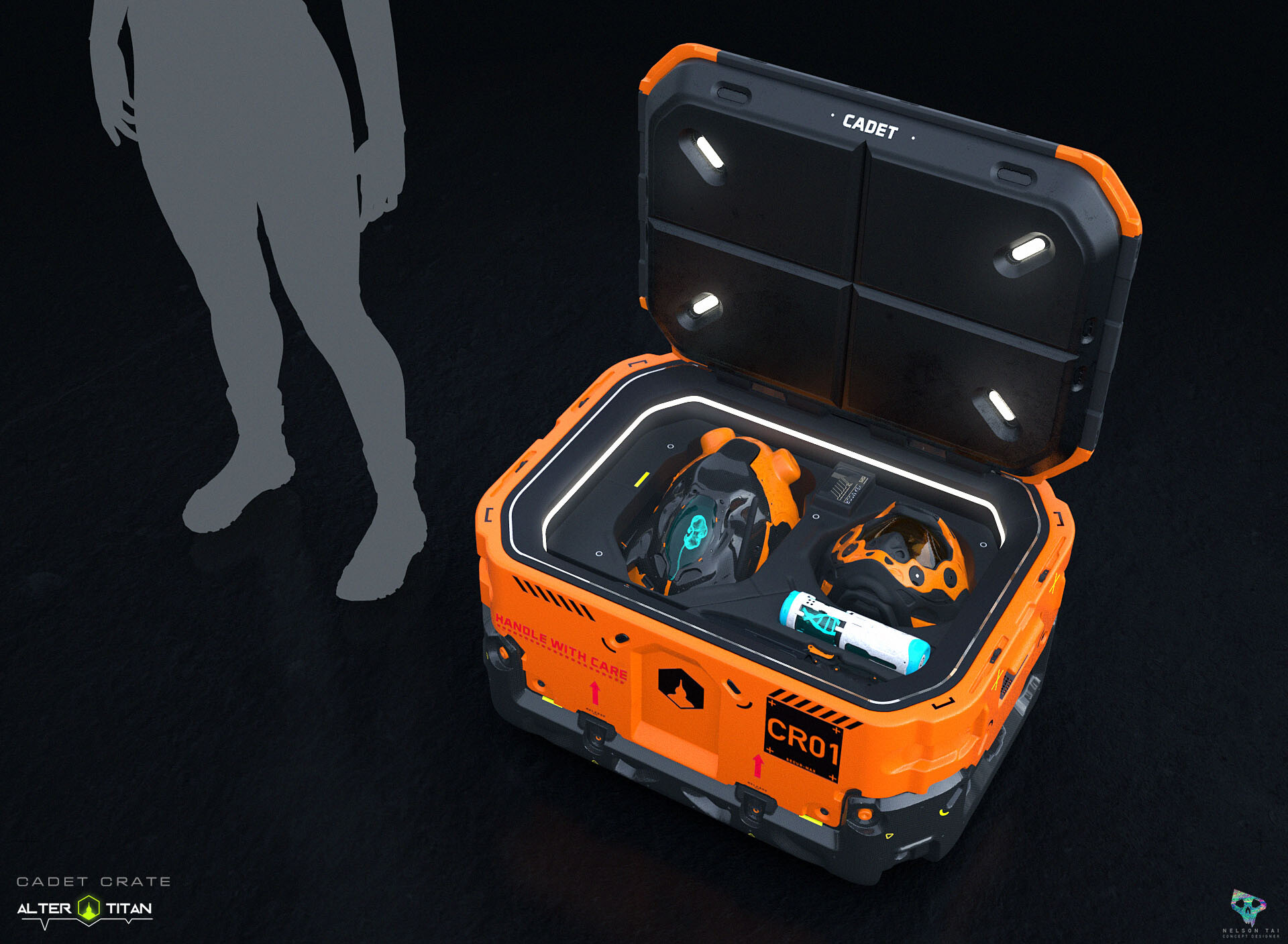 The Cadet Crate - Comes with the basics for your Titan