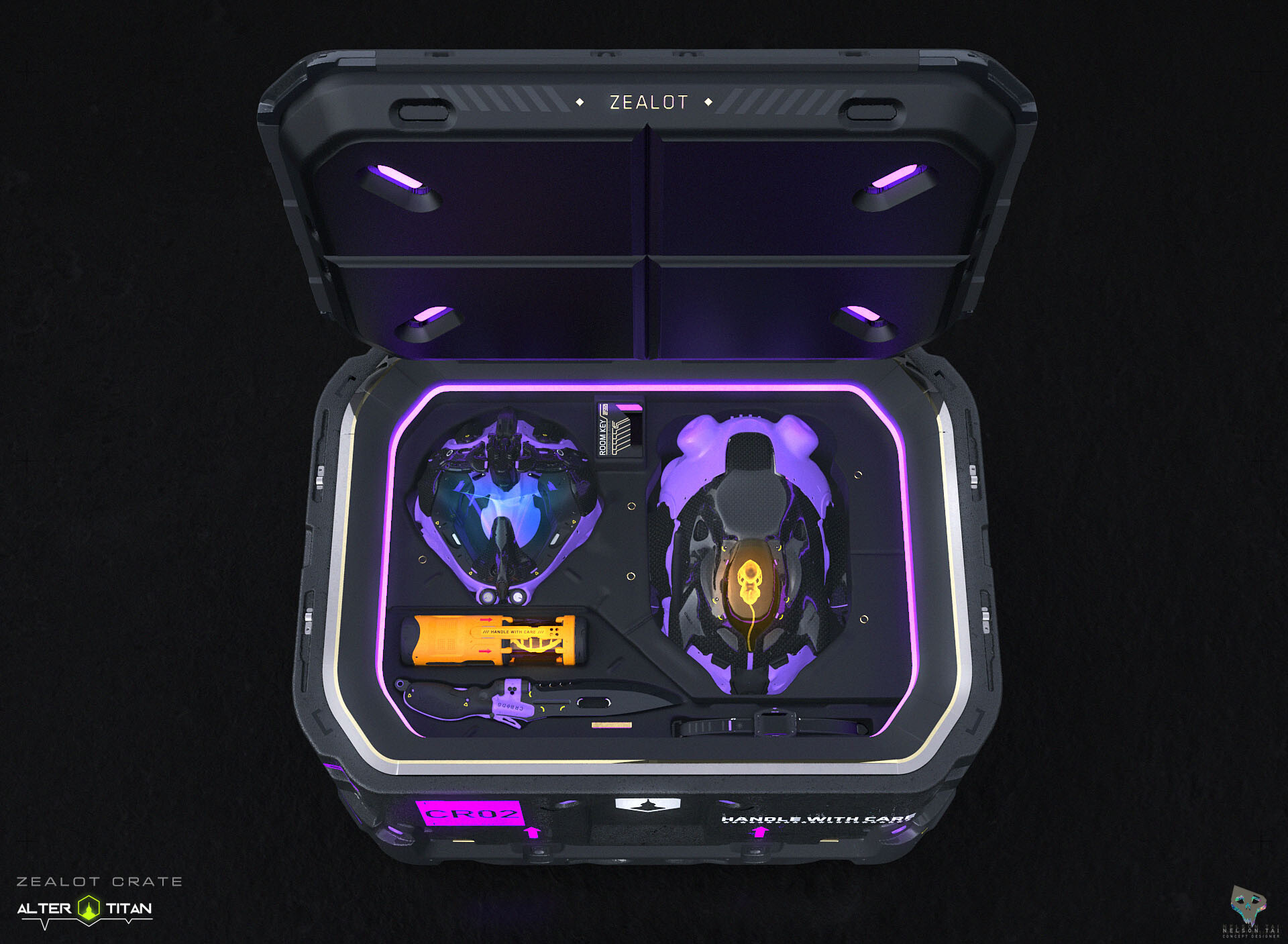 The Zealot Crate - Comes with upgraded items than the Cadet Crate.