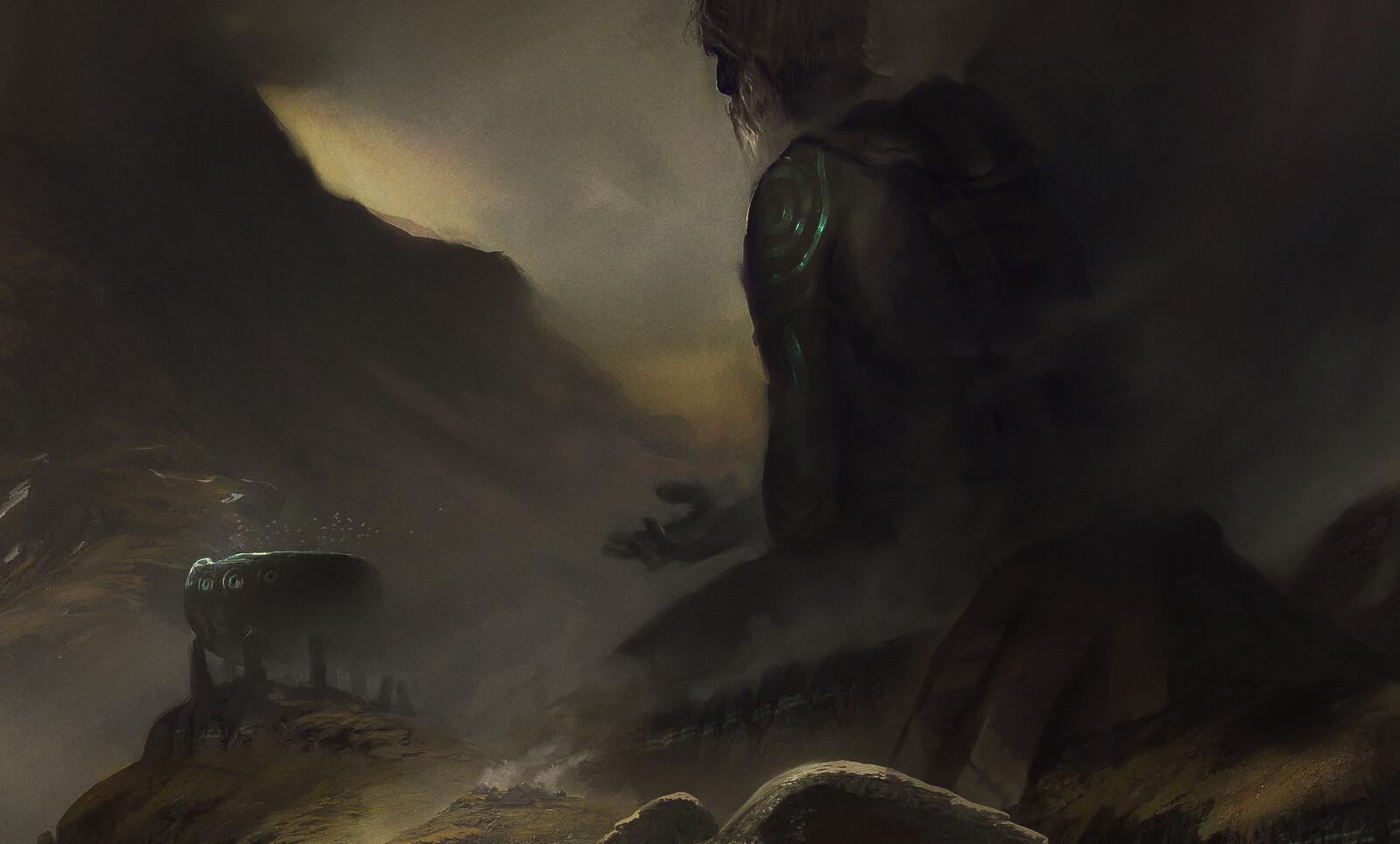 The Dagda and his cauldron