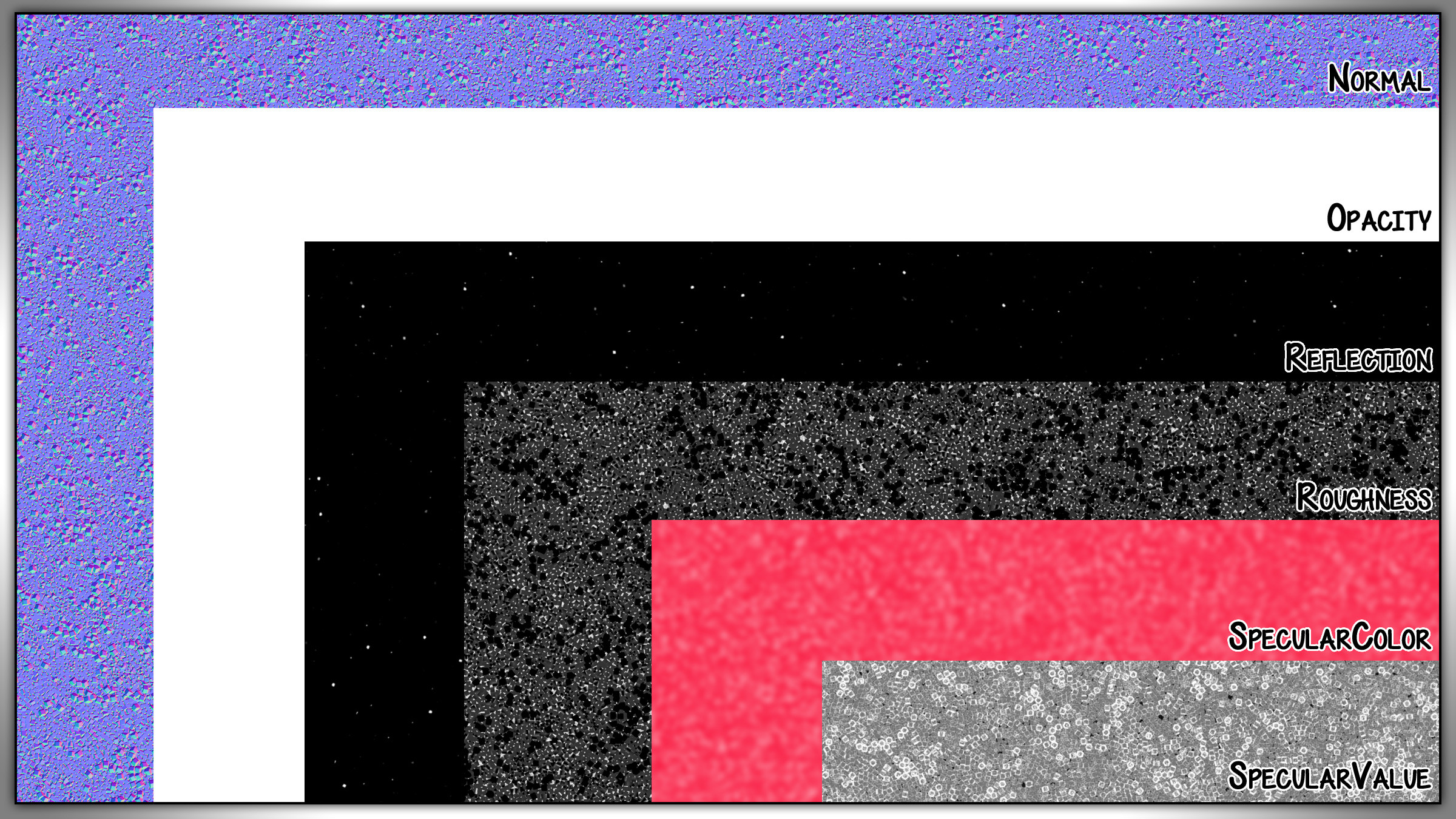 The resulting layers in half resolution.
