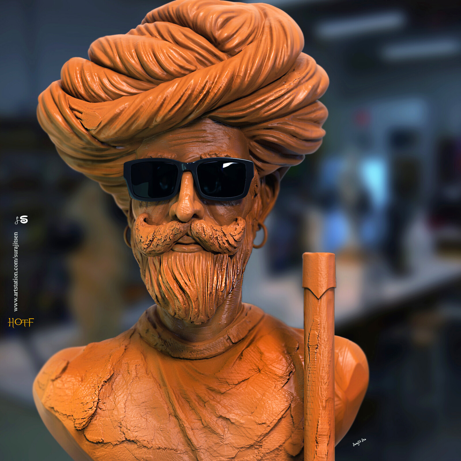One of my free time Digital Sculptures. Wish to share. Head of the family.