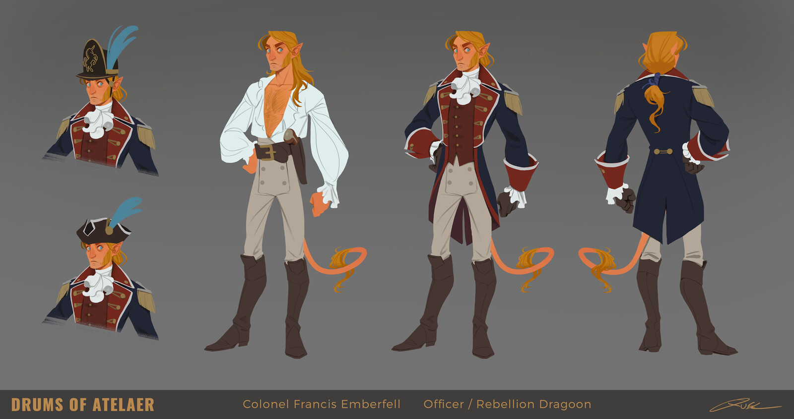 Colonel Francis Emberfell Design Sheet