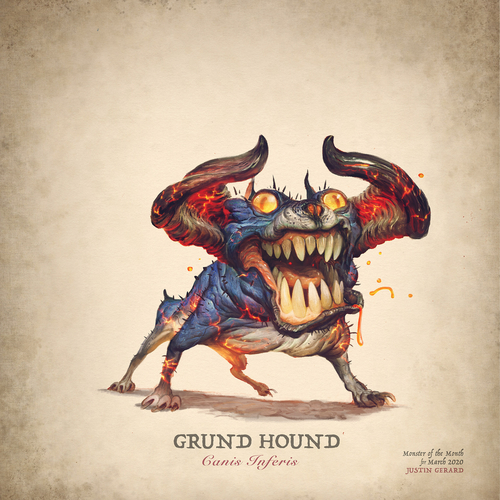 Grund Hound final color art in Photoshop