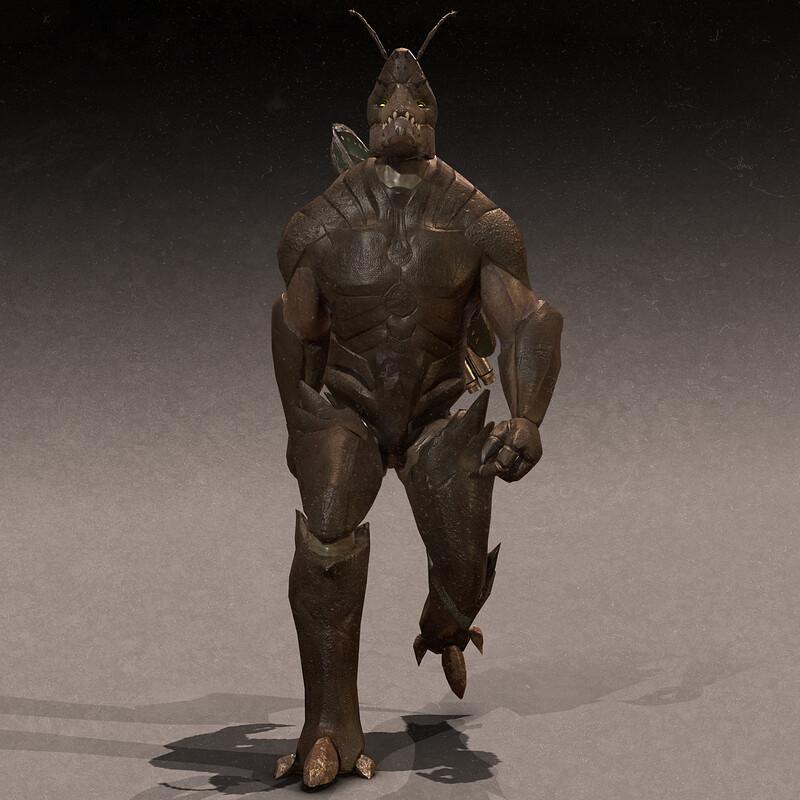 Monster Kroach - Game Model - at Lethal Art Studio