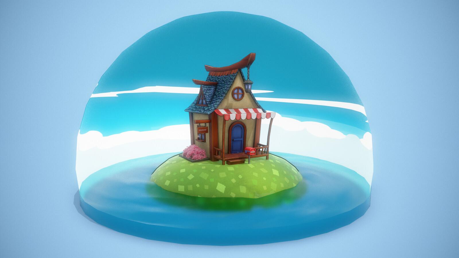 Sketchfab : Tiny Cabin // Crossing