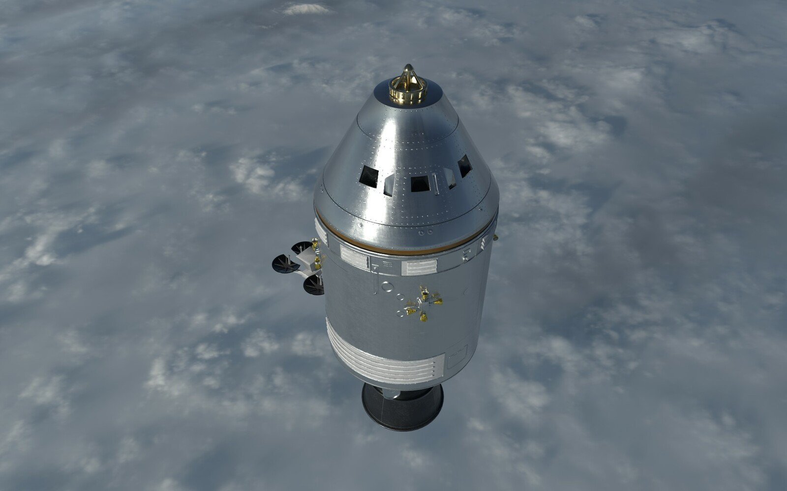 Apollo Command and Service Module Stack Toy Study Model