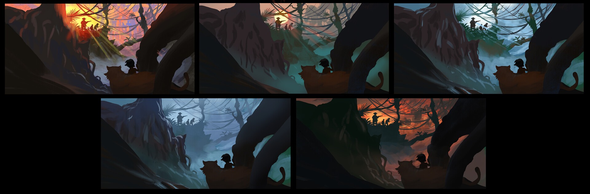 Some color iterations