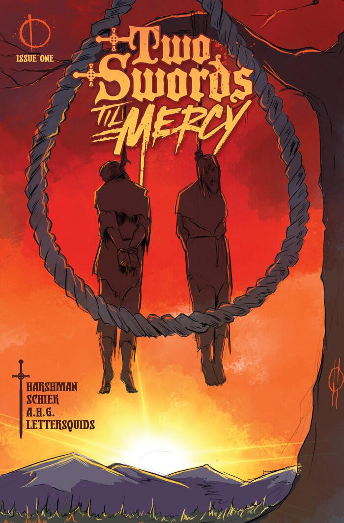 Two Swords Til Mercy #1 (Lettering and Logo Design)
