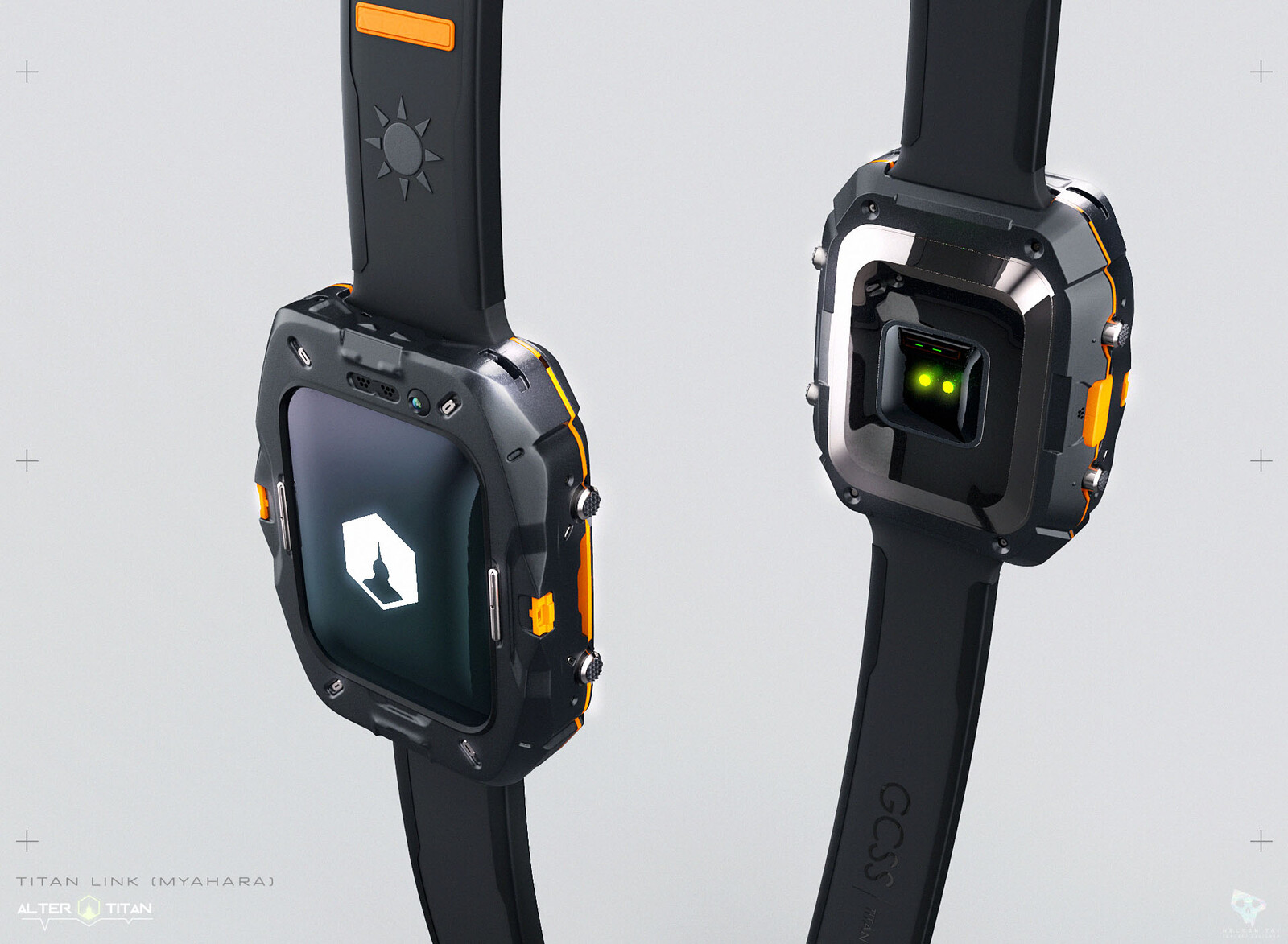 Titan Link - smart watch device.