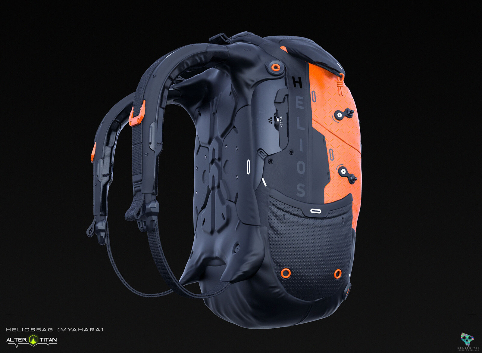 Cool breathable back ensures your Titan's comfort!