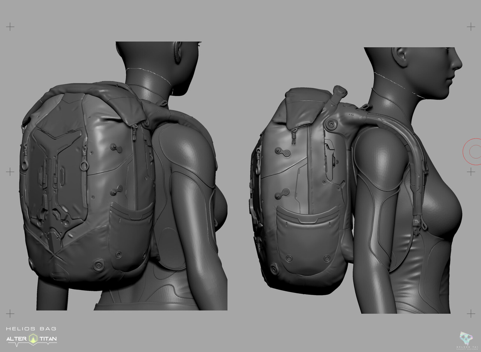 Viewport screenshot of the HeliosBag