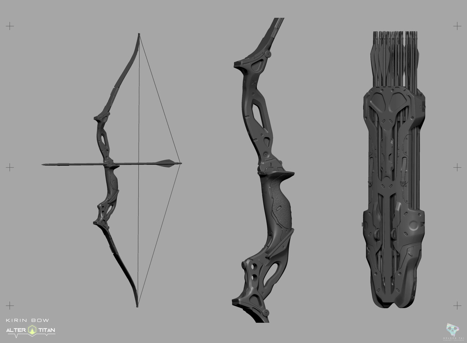 Viewport screenshot of the Bow & Quiver