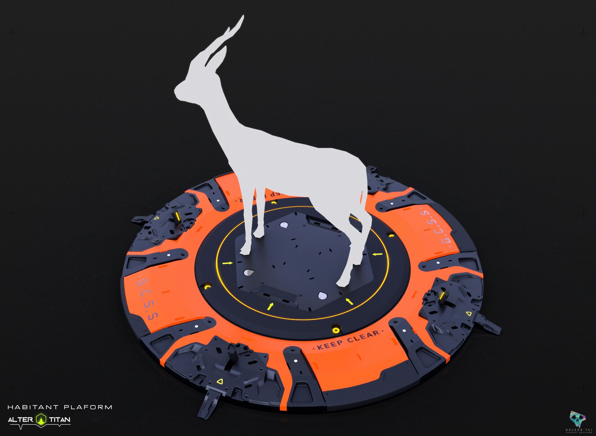 Platforms would also be used on maps to indicate creature locations.