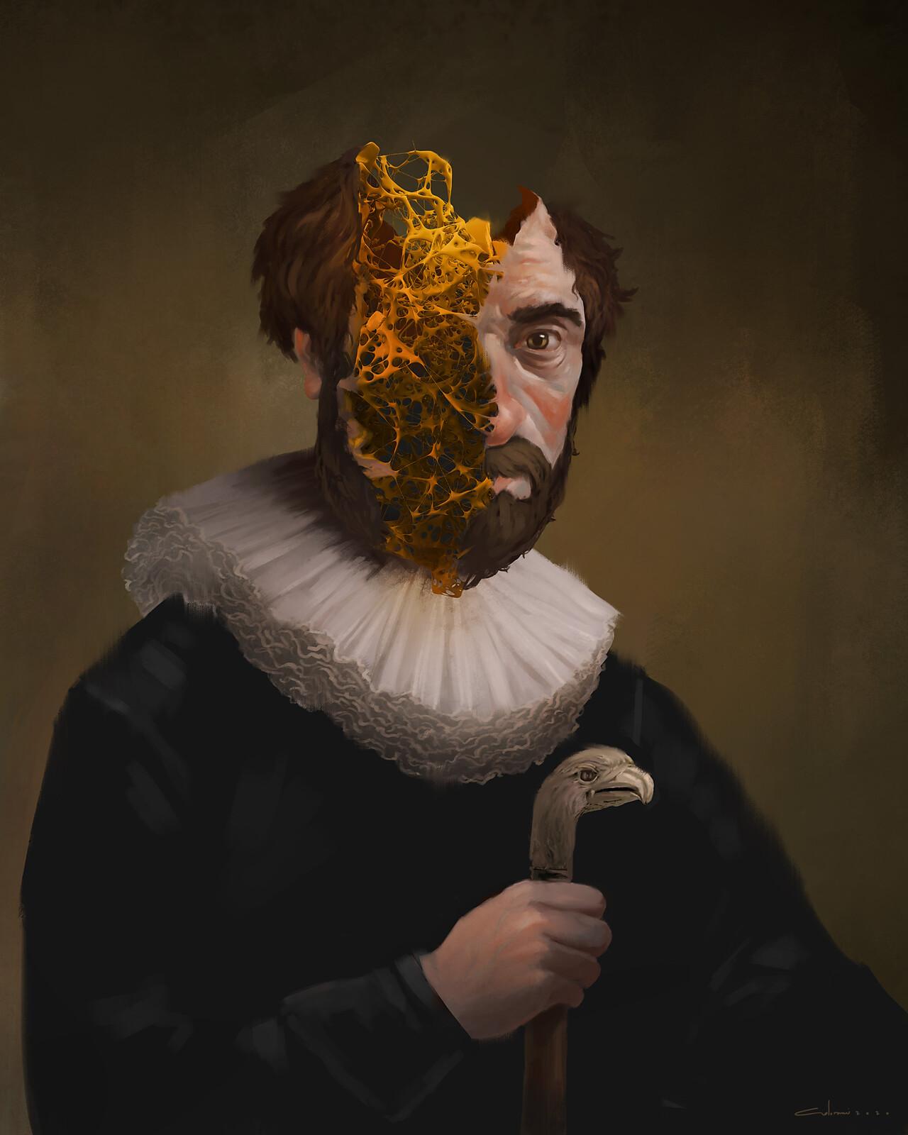 the Portrait of Peter van Covid