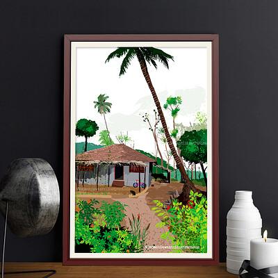 Rajesh r sawant nemle house pattern framed