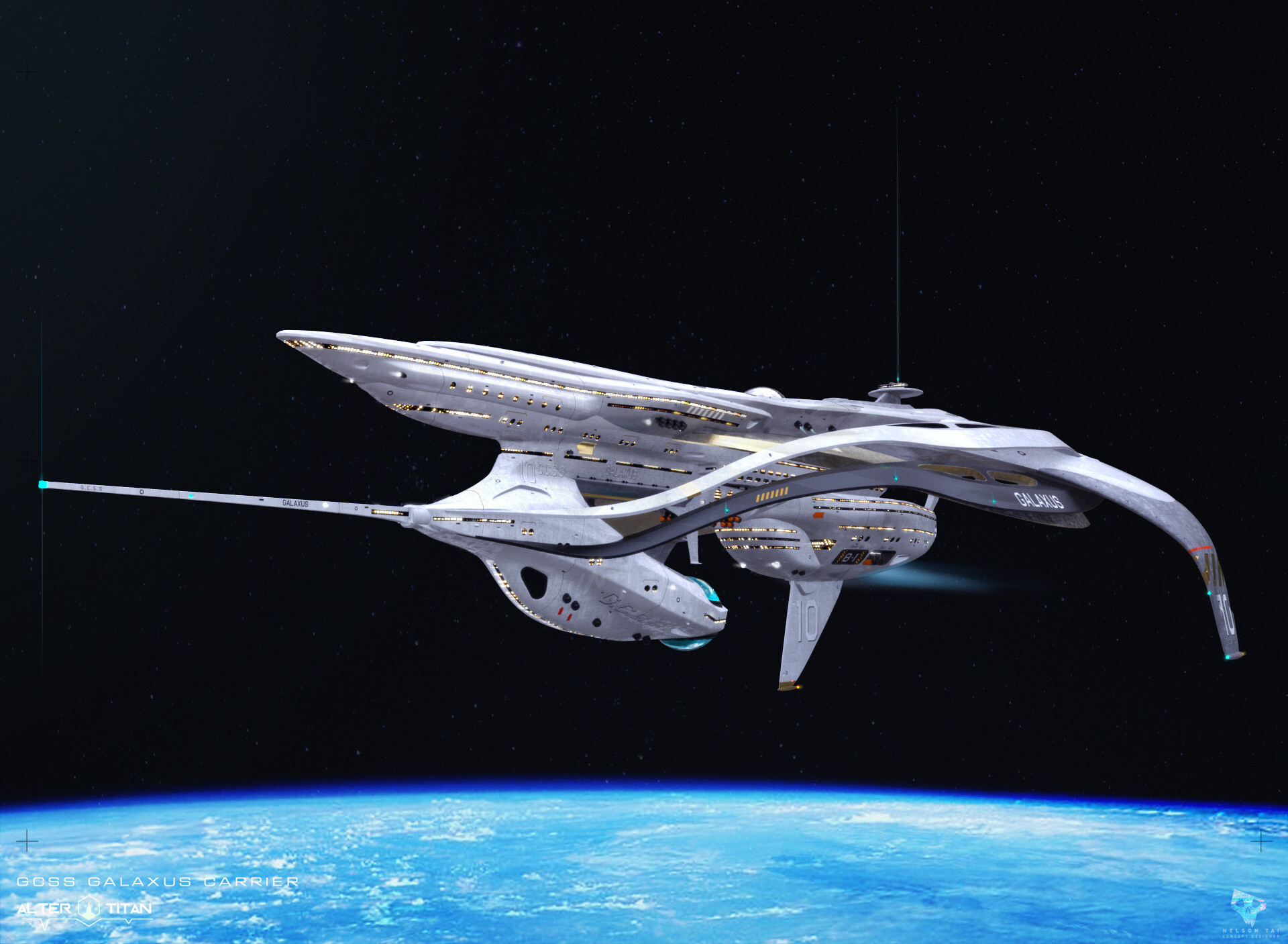 The GCSS Galaxus is the Titan's home.