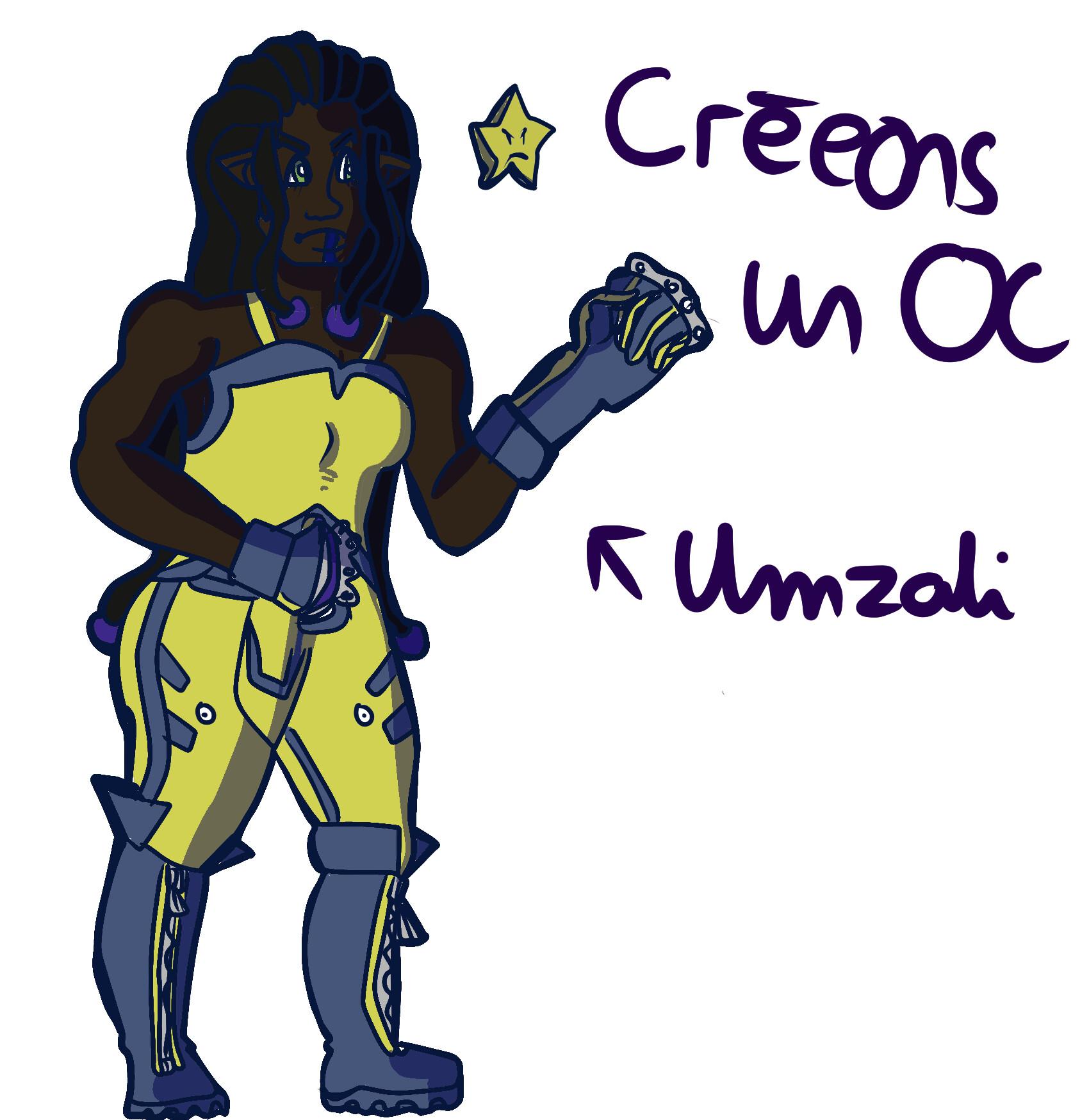 Umzali, a genzetoile who guarding La Luna