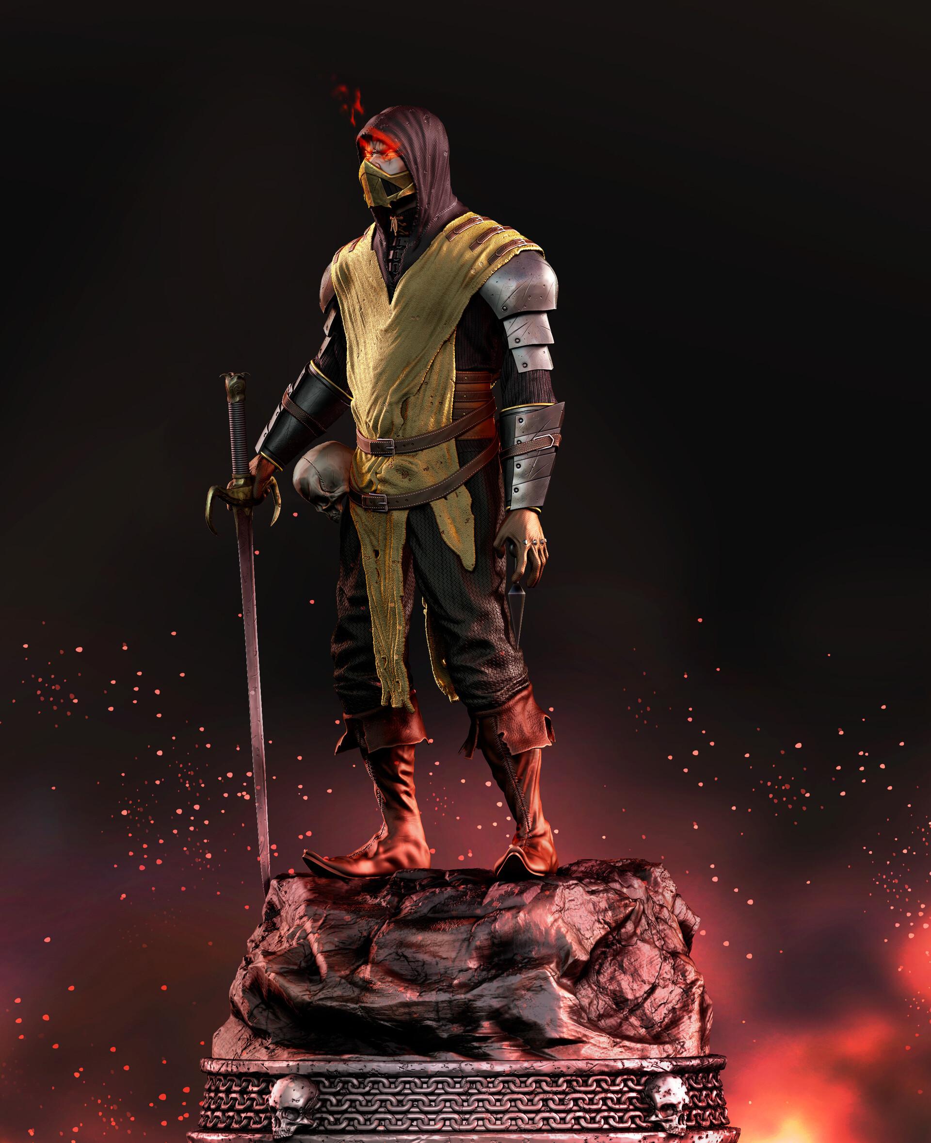 Artstation Medieval Scorpion Mortal Kombat Gabriel Dias