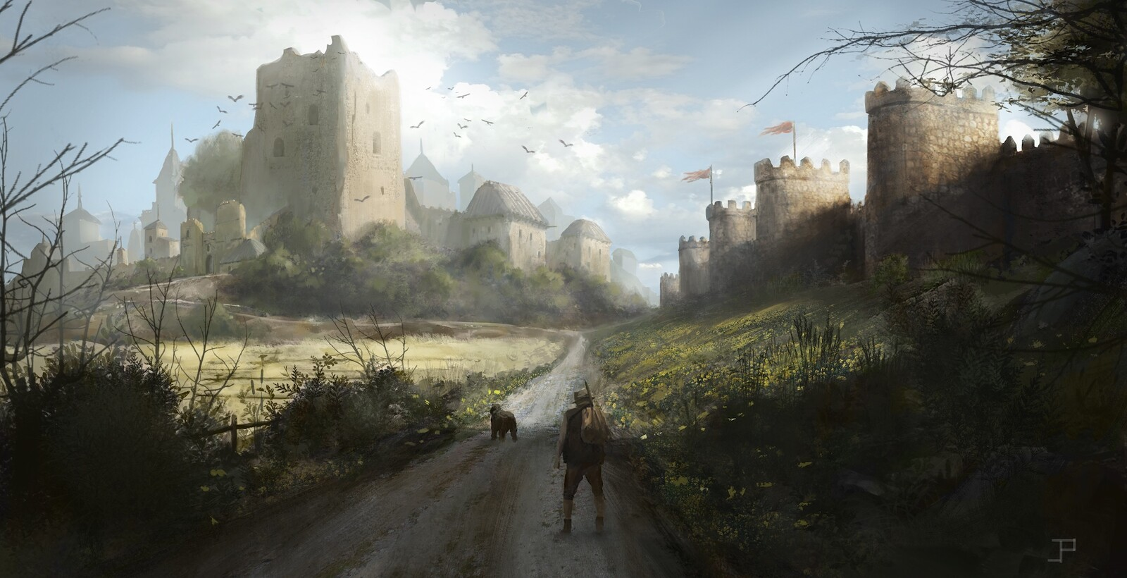 Environment design practice (inspired by medieval spanish landscape)
