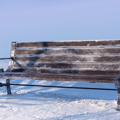 Mj venegas spadafora bench in snow